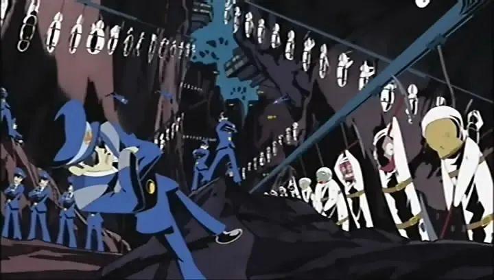 超另类动漫「落叶」,美式粗糙造型感+数码硬核+色彩爆炸动漫。